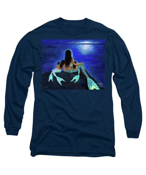 Long Sleeve T-Shirt featuring the painting All My Adorable Girls by Leslie Allen