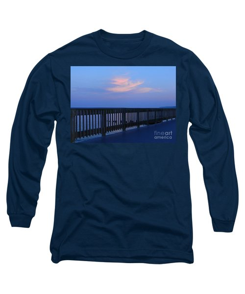 Long Sleeve T-Shirt featuring the photograph Alls Quiet On The Beach Front by Emmy Marie Vickers