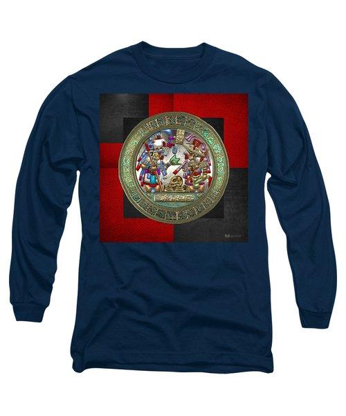 Altar 5 From Tikal Long Sleeve T-Shirt by Serge Averbukh