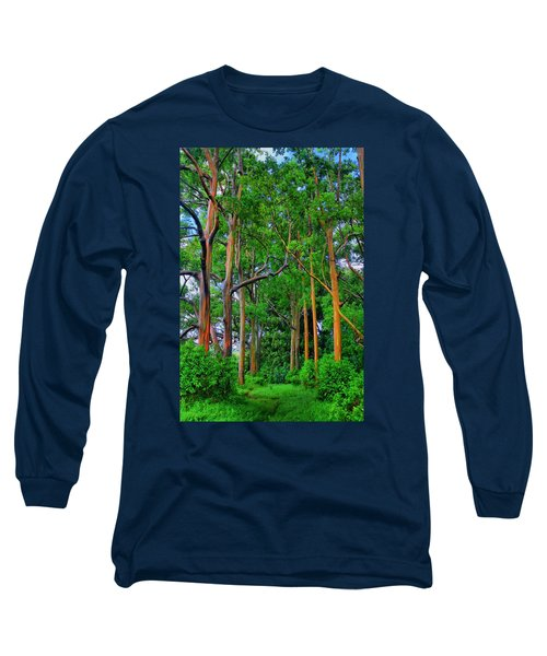 Amazing Rainbow Eucalyptus Long Sleeve T-Shirt