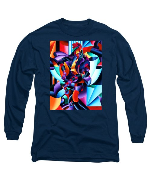 Long Sleeve T-Shirt featuring the painting Anamorphosis From The Outside In by Mark Webster