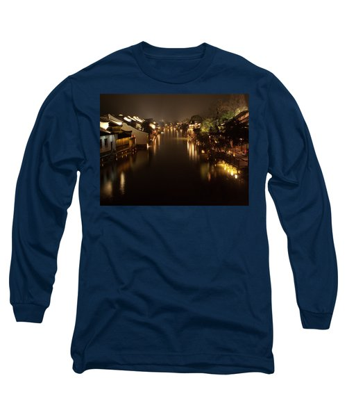 Ancient Chinese Water Town Long Sleeve T-Shirt by Andrew Soundarajan