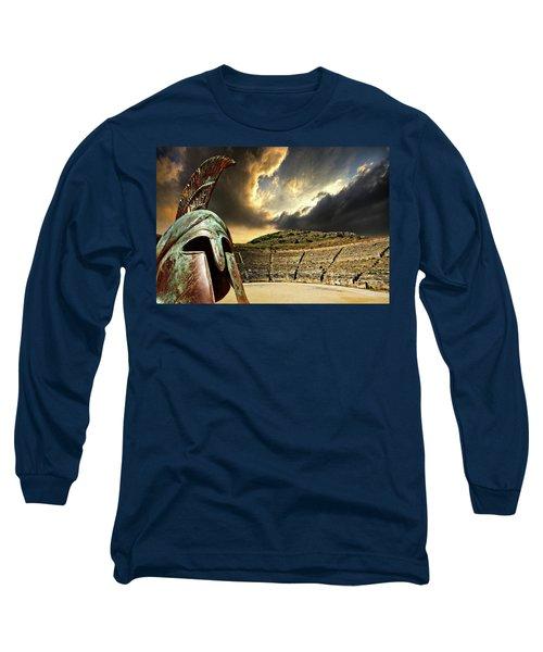 Ancient Greece Long Sleeve T-Shirt by Meirion Matthias