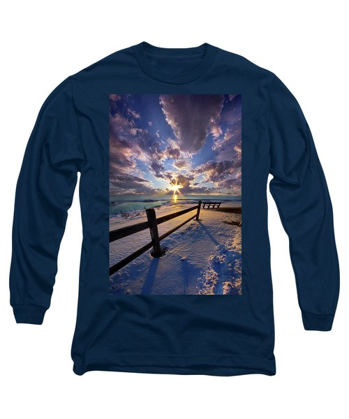 Long Sleeve T-Shirt featuring the photograph And I Will Give You Rest. by Phil Koch