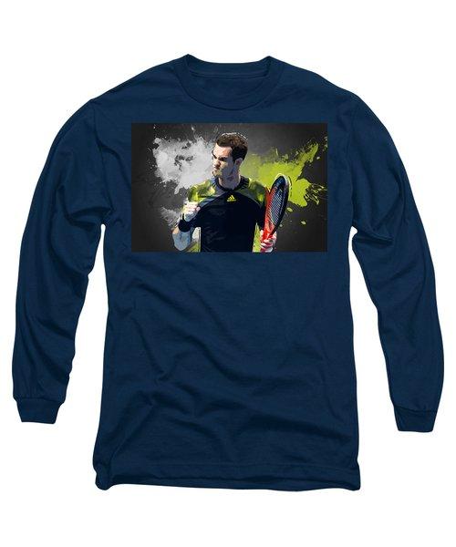 Andy Murray Long Sleeve T-Shirt by Semih Yurdabak