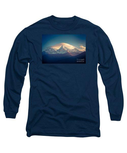Annapurna Sunrise Himalayas Mountain Artmif Long Sleeve T-Shirt