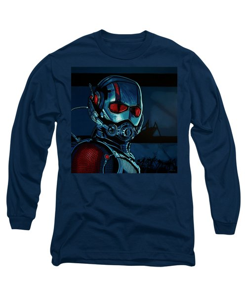 Ant Man Painting Long Sleeve T-Shirt by Paul Meijering