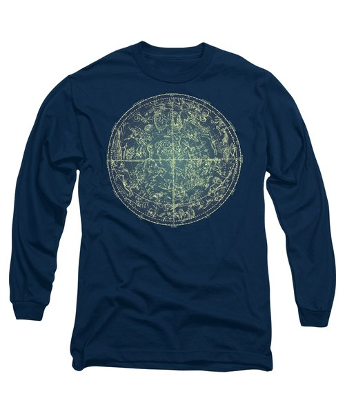 Antique Constellation Of Northern Stars 19th Century Astronomy Long Sleeve T-Shirt