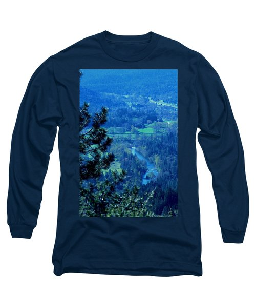 Long Sleeve T-Shirt featuring the photograph Applegate River From On Top Of Bolt Mountain by Marie Neder