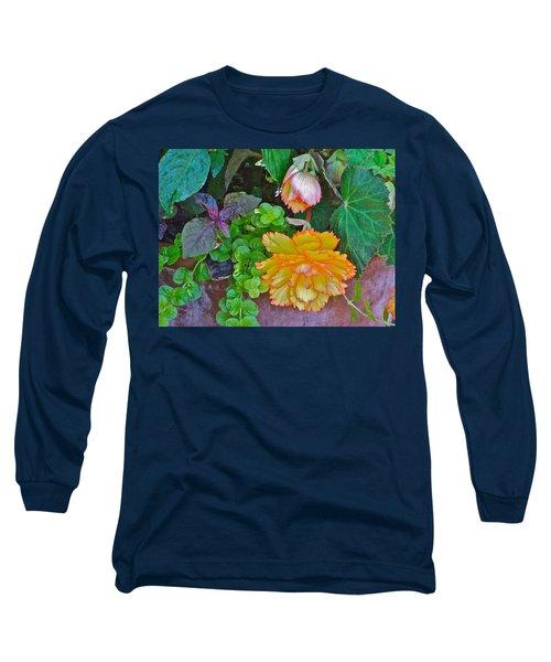Apricot Begonia 3 Long Sleeve T-Shirt