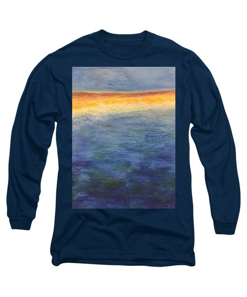 Long Sleeve T-Shirt featuring the pastel Aquamarine by Norma Duch