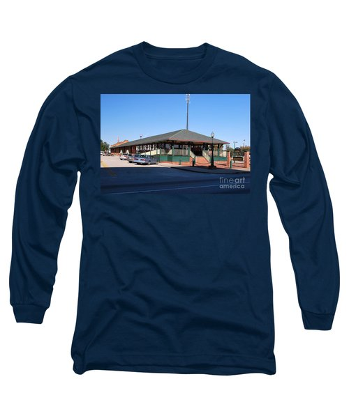 Long Sleeve T-Shirt featuring the photograph Arcadia Train Station by Gary Wonning