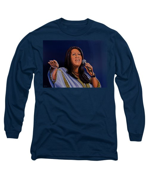 Aretha Franklin Painting Long Sleeve T-Shirt