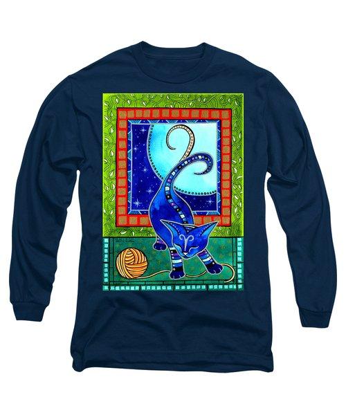 Aries Cat Zodiac Long Sleeve T-Shirt