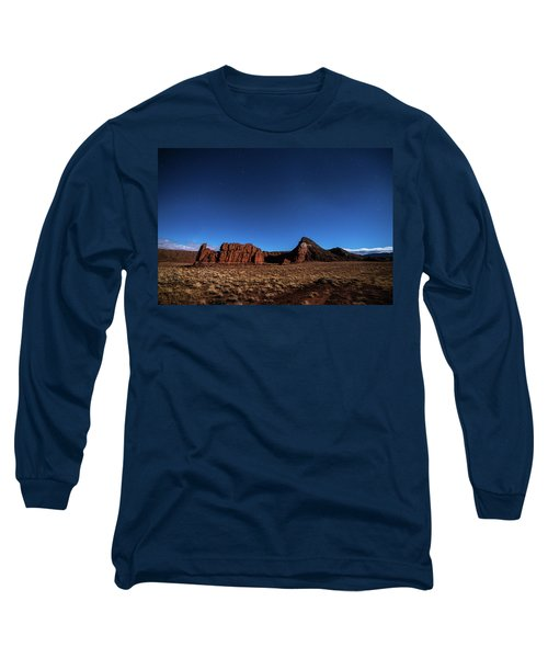 Arizona Landscape At Night Long Sleeve T-Shirt