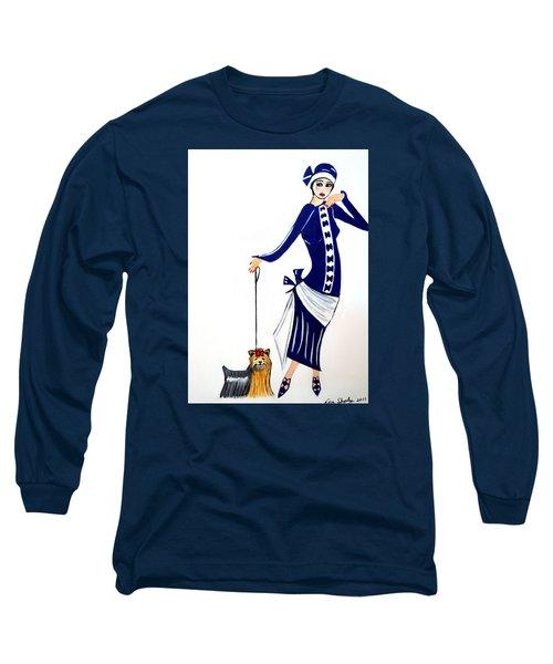 Art Deco  Diane 1920's Long Sleeve T-Shirt