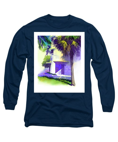 Art Deco Hotel Miami Long Sleeve T-Shirt