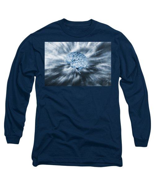 Artificial Intelligence With Human Brain Long Sleeve T-Shirt by Christian Lagereek