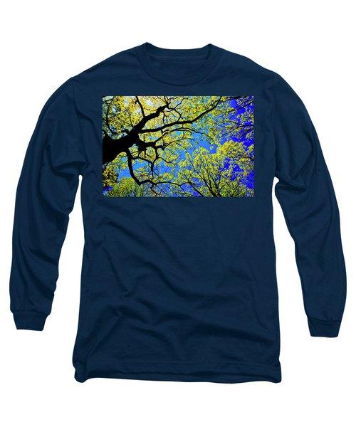 Artsy Tree Canopy Series, Early Spring - # 01 Long Sleeve T-Shirt