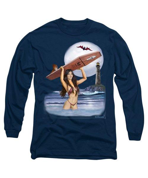 Little Surfer Ghoul Long Sleeve T-Shirt