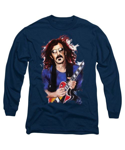 Frank Zappa Long Sleeve T-Shirt by Melanie D