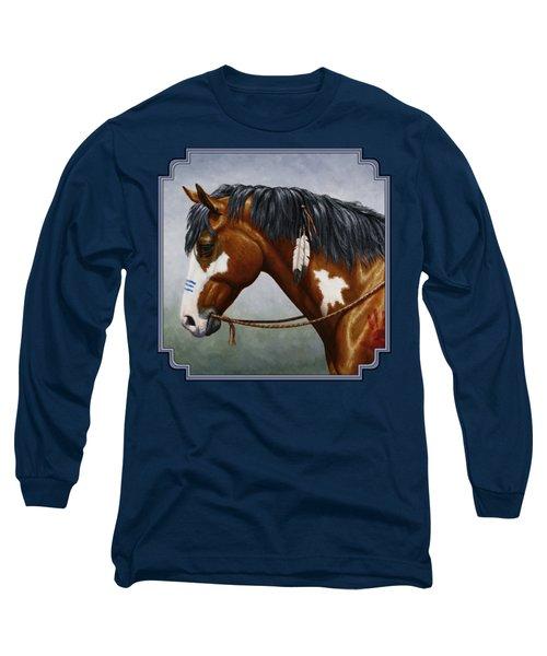 Bay Native American War Horse Long Sleeve T-Shirt