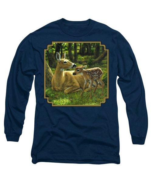 Whitetail Deer - First Spring Long Sleeve T-Shirt