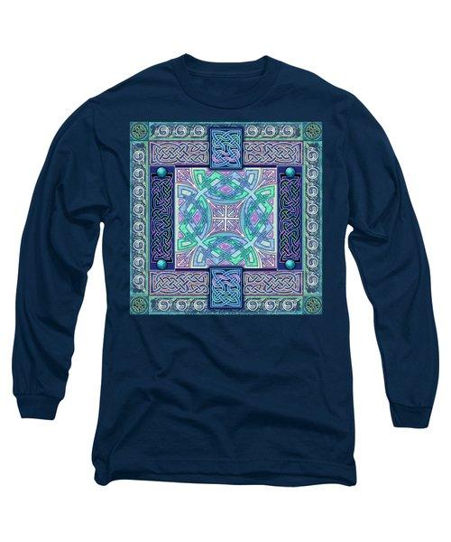 Long Sleeve T-Shirt featuring the mixed media Celtic Atlantis Opal by Kristen Fox