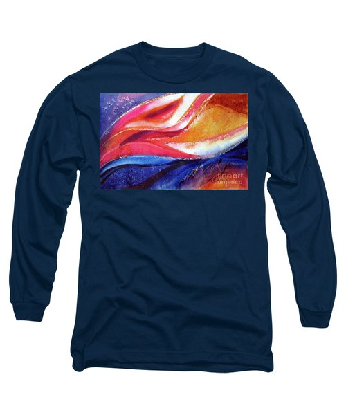 Long Sleeve T-Shirt featuring the painting As I Bloom by Kathy Braud