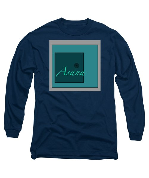 Asana In Blue Long Sleeve T-Shirt