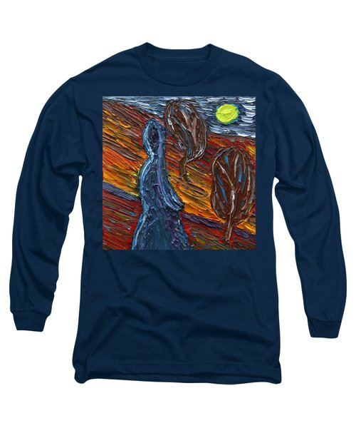 Long Sleeve T-Shirt featuring the painting Aspiration by Vadim Levin