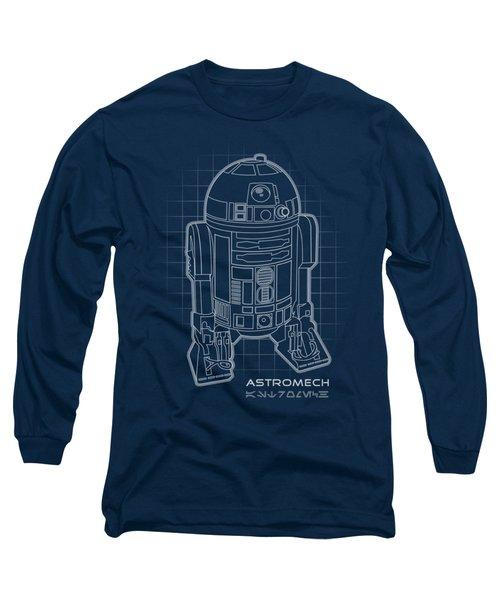 Astromech Blueprint Long Sleeve T-Shirt