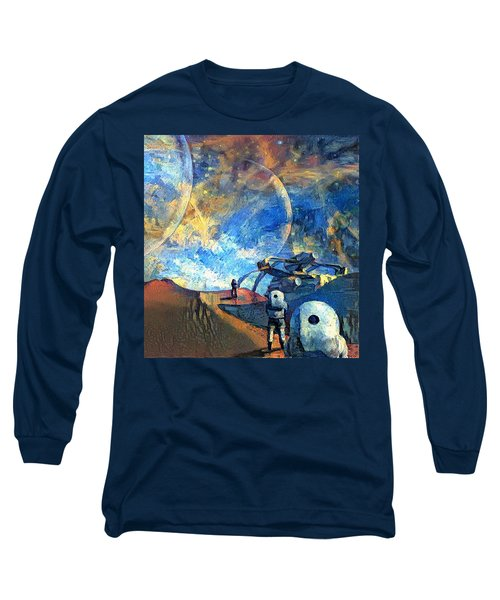 Astronauts On A Red Planet Long Sleeve T-Shirt