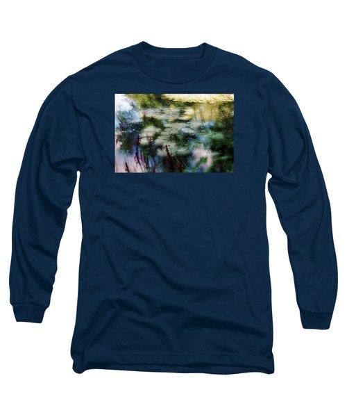 Long Sleeve T-Shirt featuring the photograph At Claude Monet's Water Garden 2 by Dubi Roman