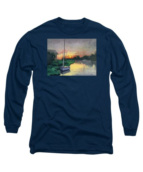 Long Sleeve T-Shirt featuring the painting At Ease Sold by Nancy Parsons
