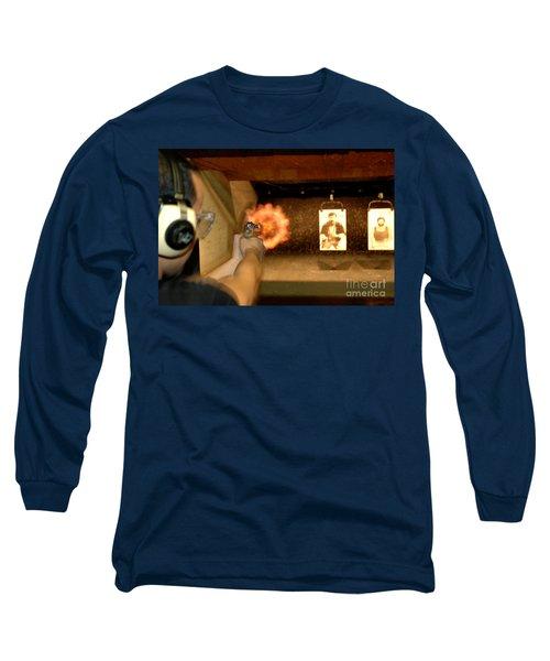 At The Gun Gange Long Sleeve T-Shirt by Micah May