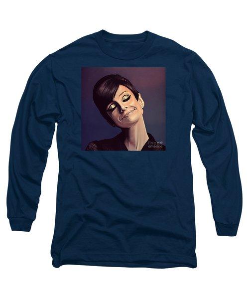 Audrey Hepburn Painting Long Sleeve T-Shirt by Paul Meijering