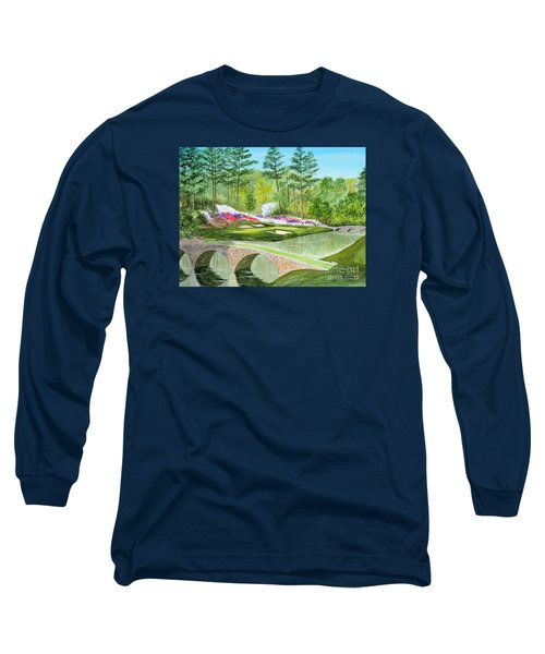 Long Sleeve T-Shirt featuring the painting Augusta National Golf Course 12th Hole by Bill Holkham
