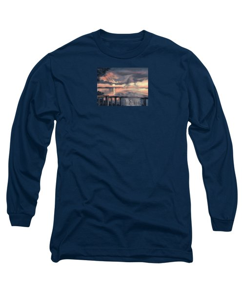 Long Sleeve T-Shirt featuring the painting Aunt Jo by Jean Pacheco Ravinski