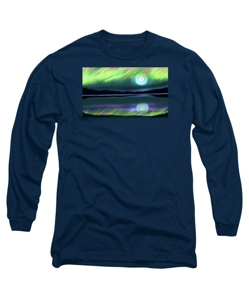 Aurora Moon Lake Long Sleeve T-Shirt