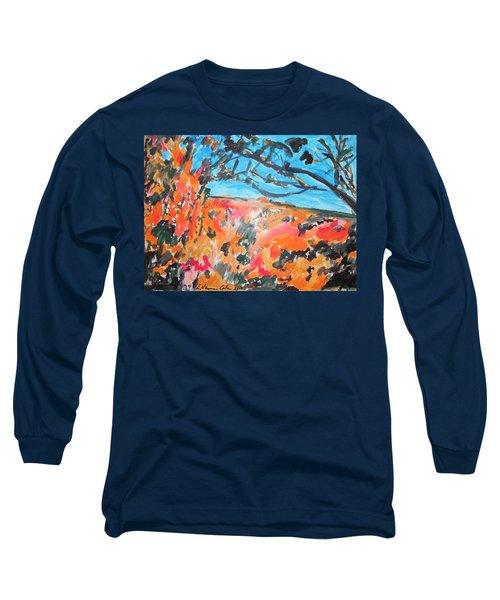 Autumn Flames Long Sleeve T-Shirt by Esther Newman-Cohen