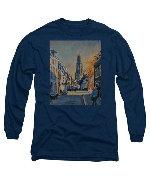 Autumn In The Lange Nieuwstraat Utrecht Long Sleeve T-Shirt by Nop Briex