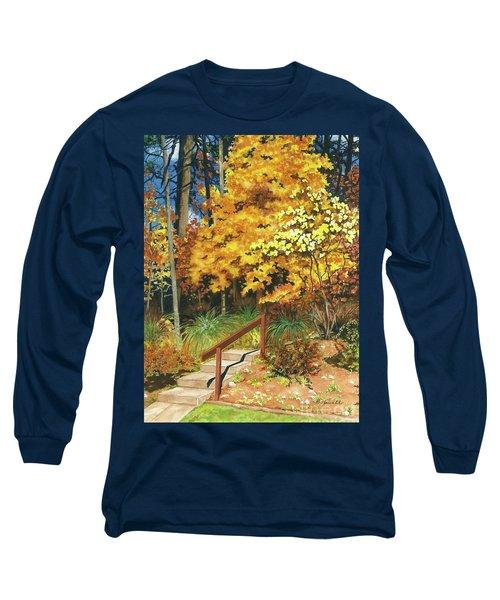Autumn Invitation Long Sleeve T-Shirt by Barbara Jewell