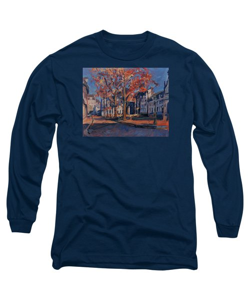 Autumn On The Square Of Our Lady Maastricht Long Sleeve T-Shirt by Nop Briex