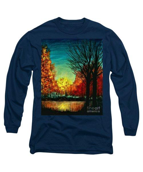Autumn Silhouette  Long Sleeve T-Shirt