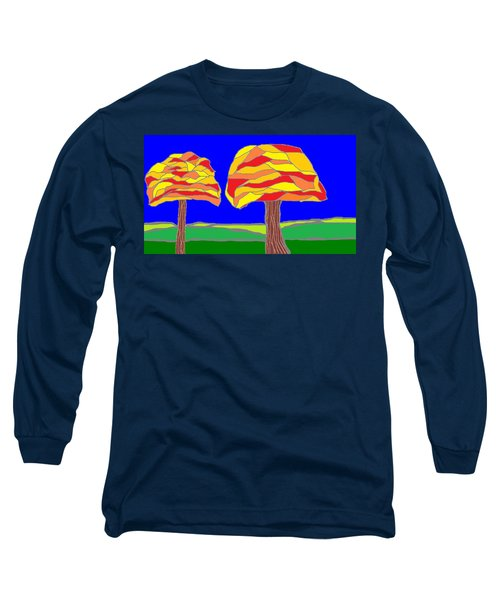 Autumn Stained Glass 1 Long Sleeve T-Shirt