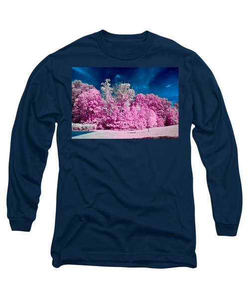 Autumn Trees In Infrared Long Sleeve T-Shirt
