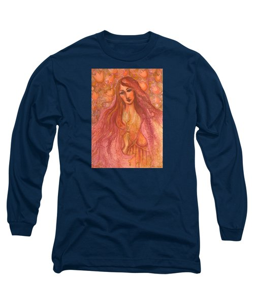 Autumn With Gold Flower Long Sleeve T-Shirt by Rita Fetisov