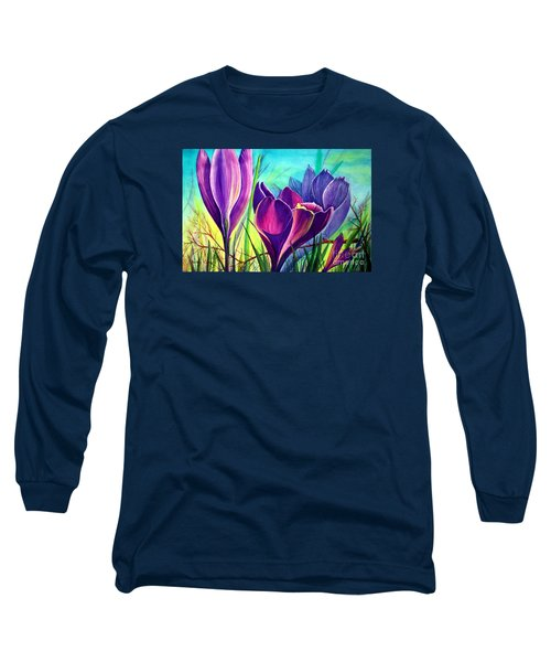 Awakening Long Sleeve T-Shirt by Nancy Cupp