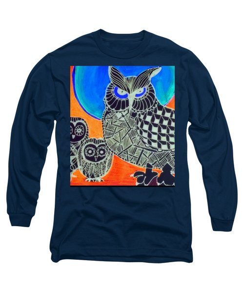 Awls Are Cool Long Sleeve T-Shirt by Sandra Lira